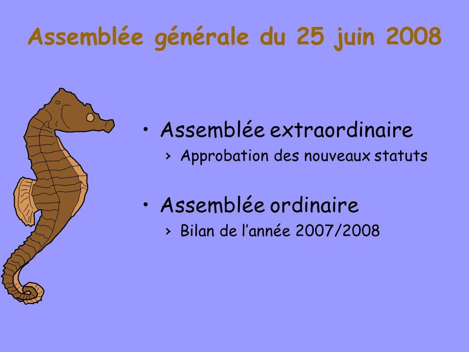 Assemblée générale du 25 juin 2008