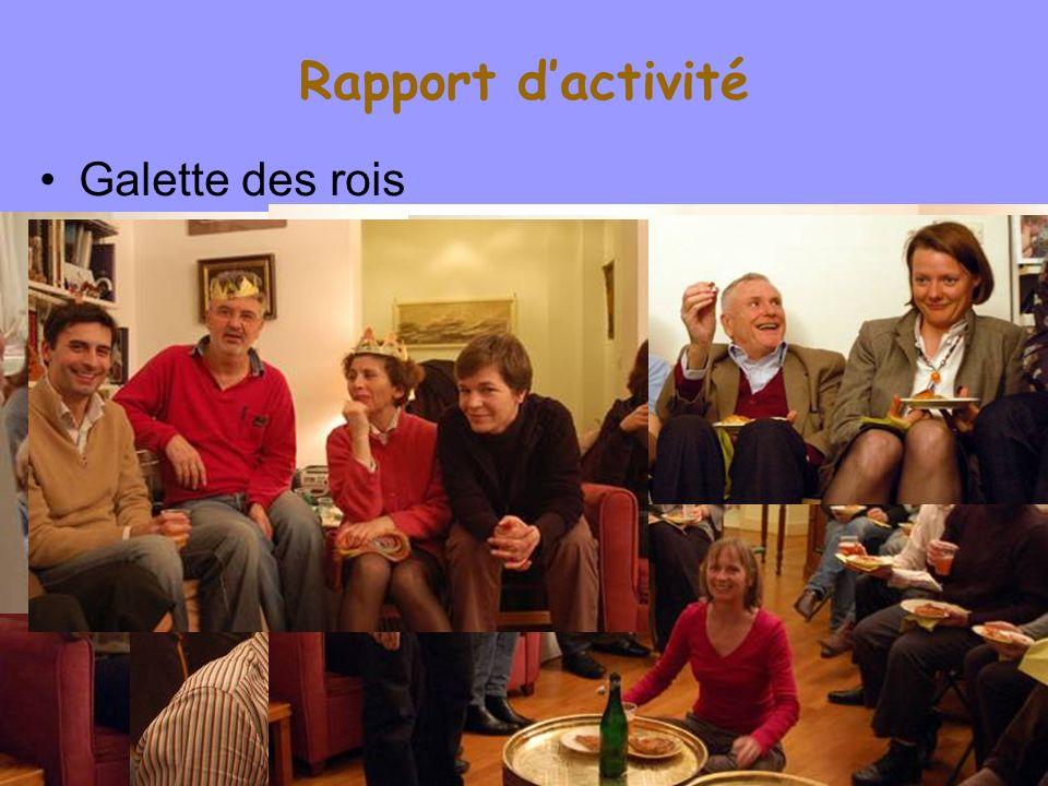 Rapport d'activité Galette des rois Willy Laurent