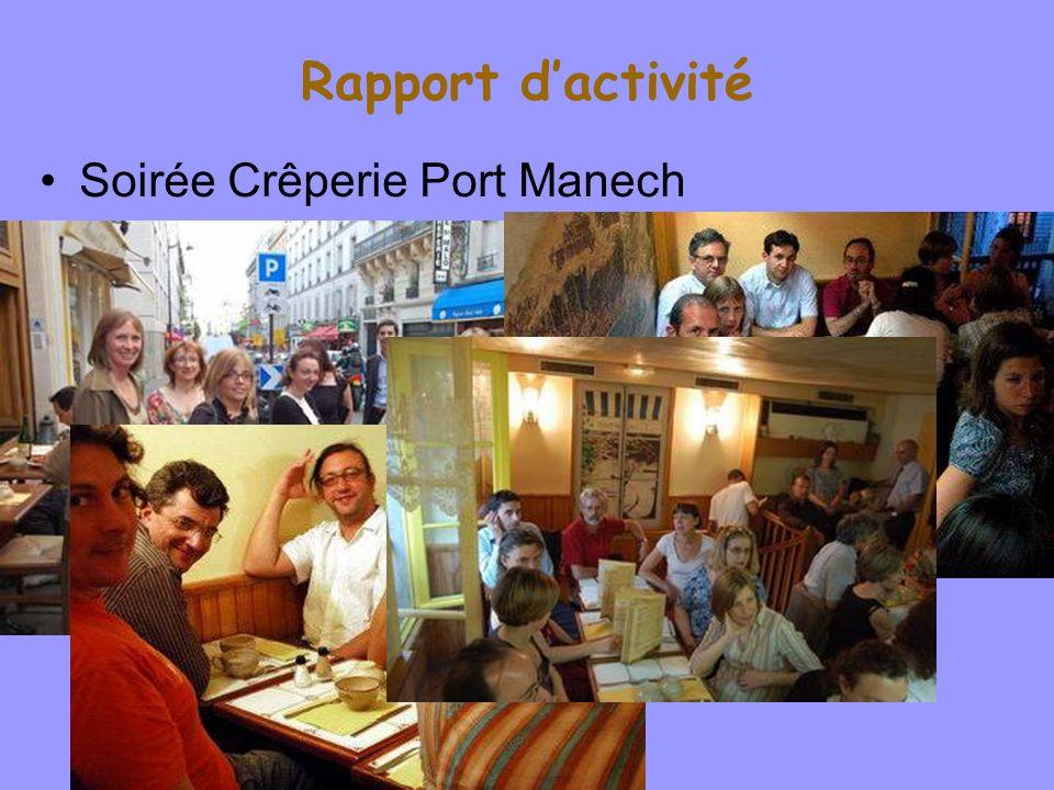 Rapport d'activité Soirée Crêperie Port Manech Willy Laurent