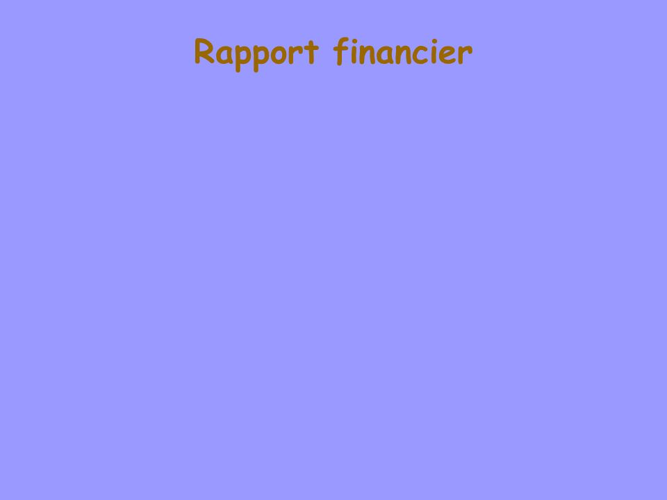 Rapport financier Willy Laurent