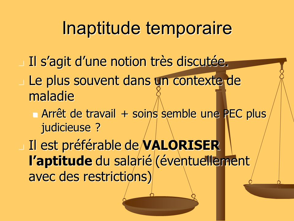 Inaptitude temporaire
