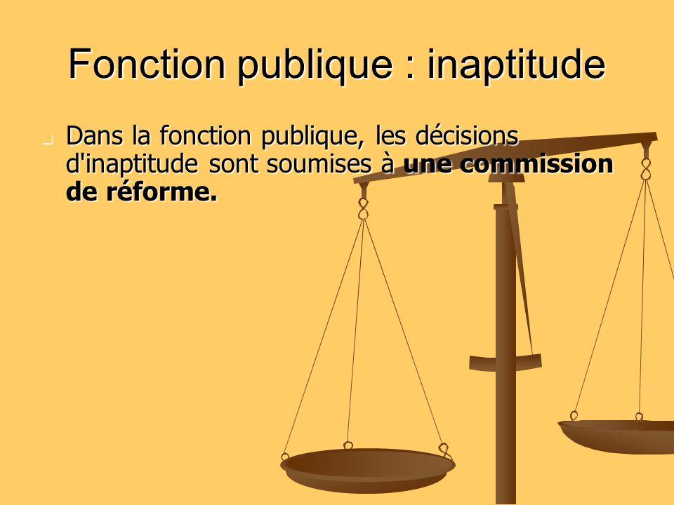 Fonction publique : inaptitude
