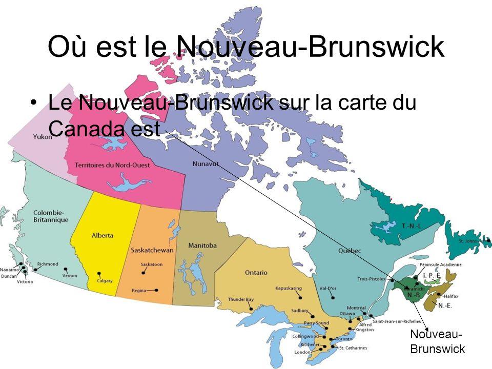 Où est le Nouveau-Brunswick