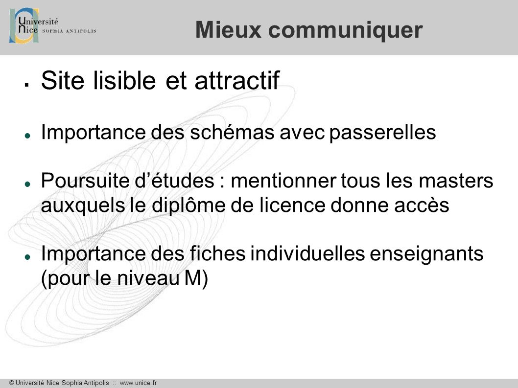 Site lisible et attractif