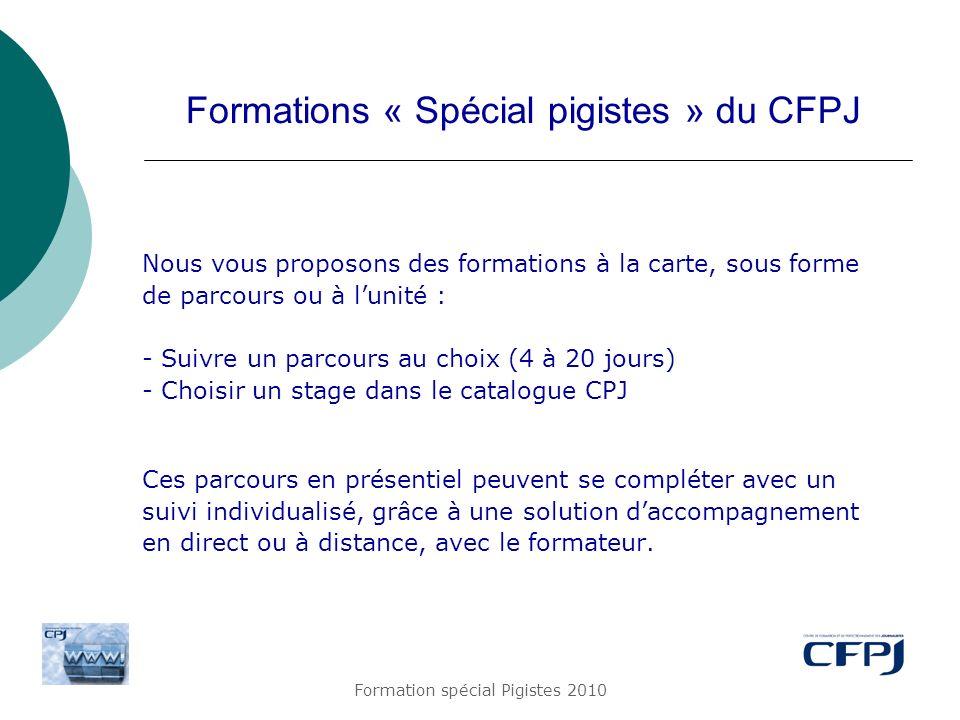 Formations « Spécial pigistes » du CFPJ