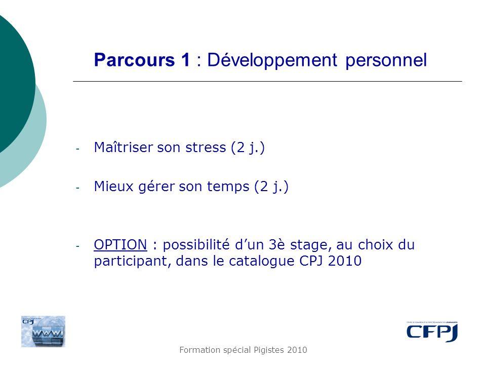 Parcours 1 : Développement personnel