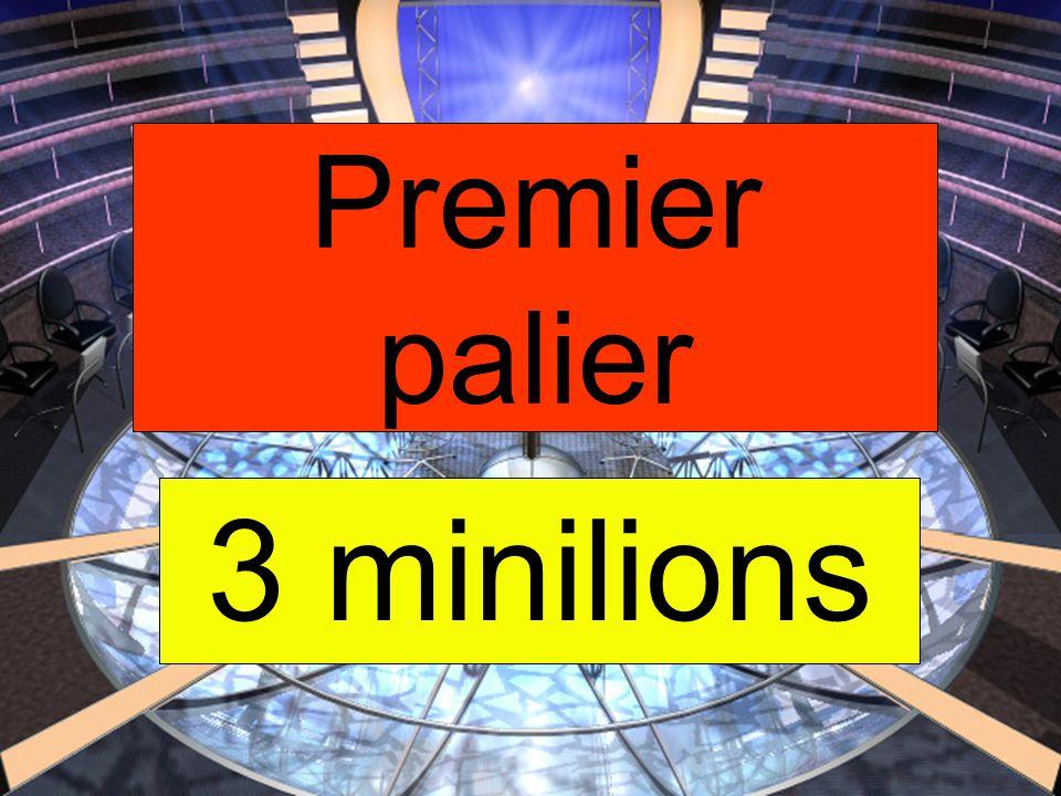 Premier palier 3 minilions