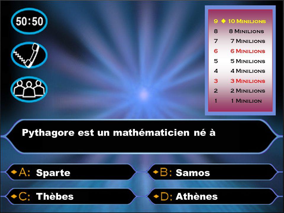 Pythagore est un mathématicien né à