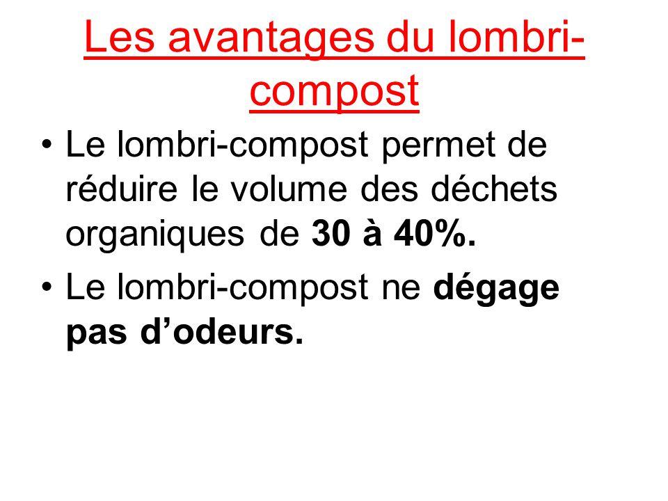 Les avantages du lombri-compost