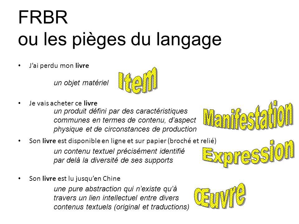 FRBR ou les pièges du langage