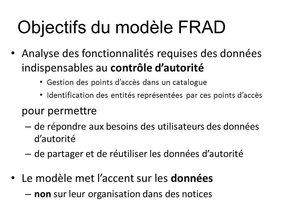Objectifs du modèle FRAD