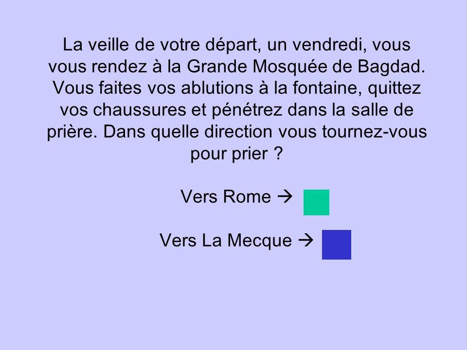 La veille de votre départ, un vendredi, vous vous rendez à la Grande Mosquée de Bagdad.