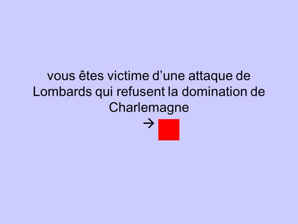 vous êtes victime d'une attaque de Lombards qui refusent la domination de Charlemagne 
