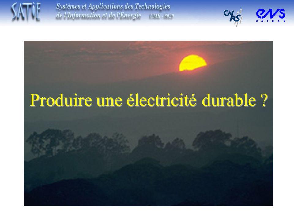 Produire une électricité durable