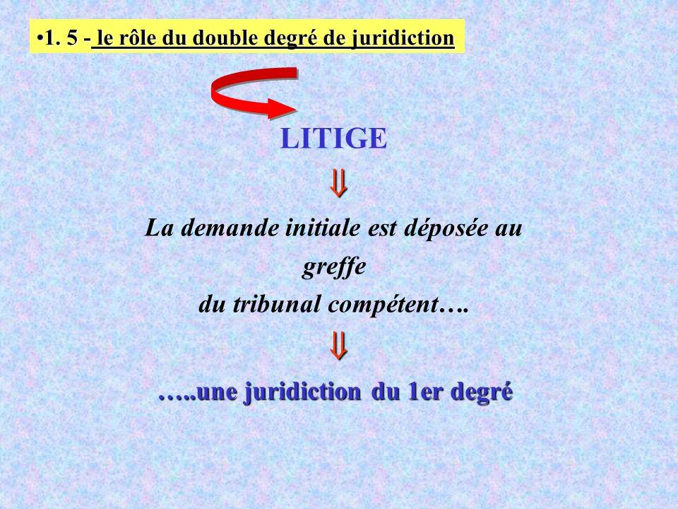 1. 5 - le rôle du double degré de juridiction