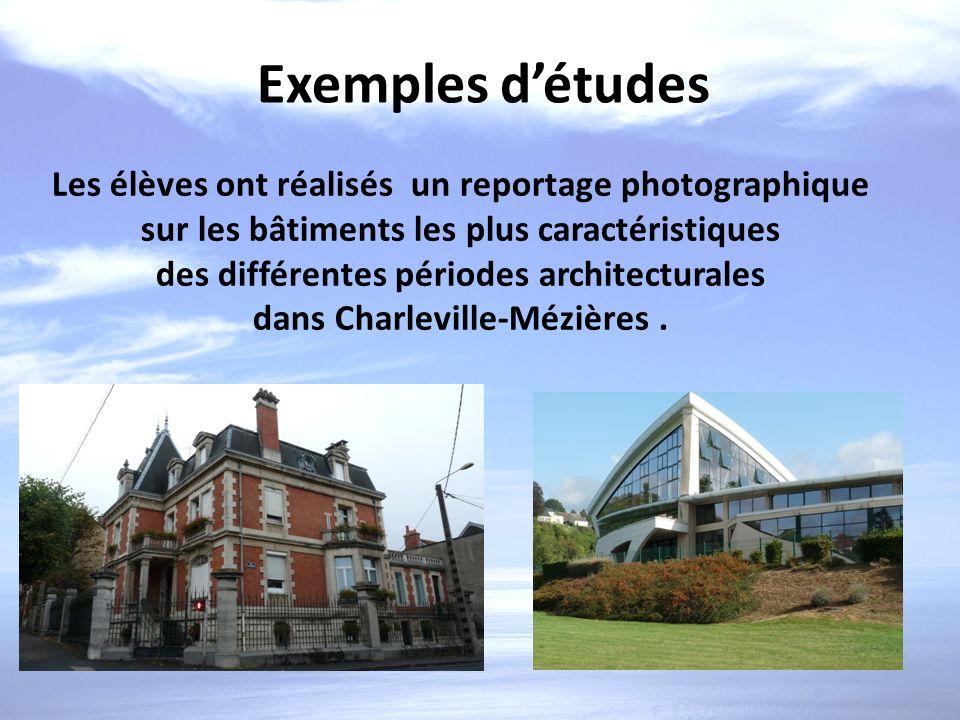 des différentes périodes architecturales dans Charleville-Mézières .