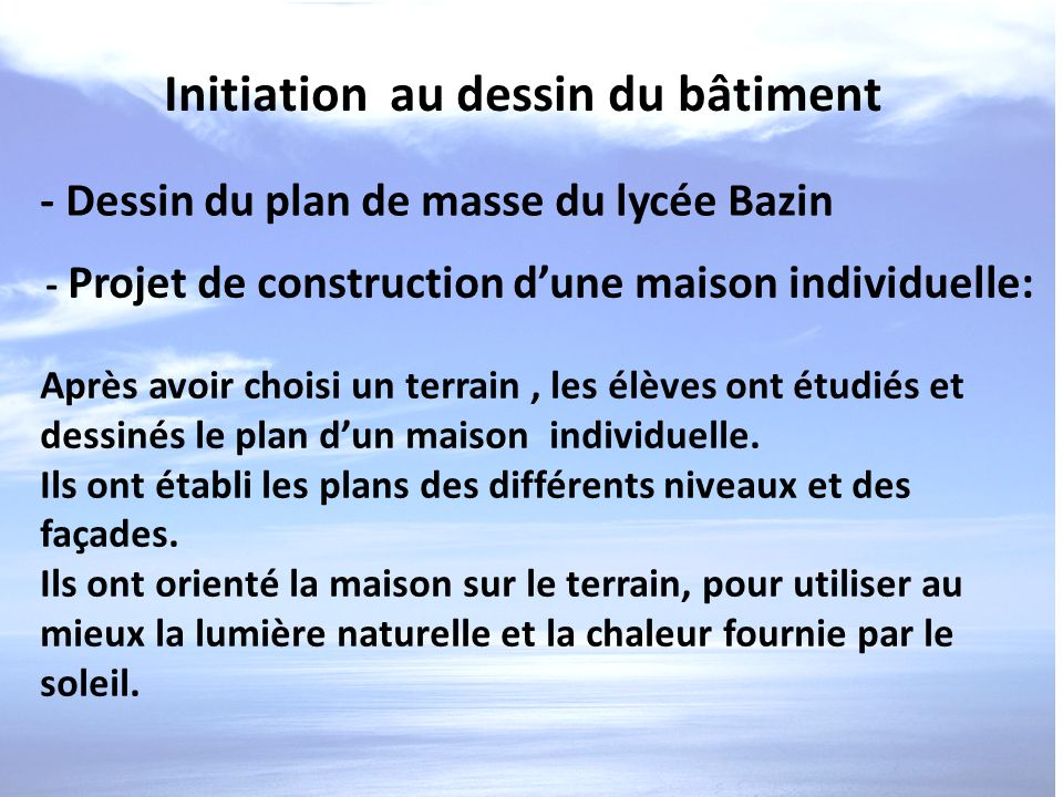 Architecture et construction ppt video online t l charger - Un plan en coupe du terrain et de la construction ...