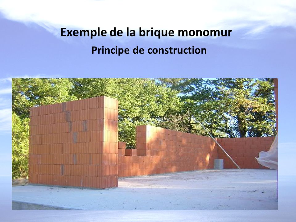 Principe de construction
