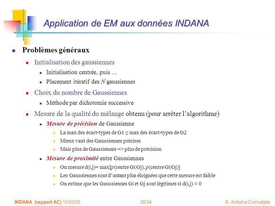Application de EM aux données INDANA