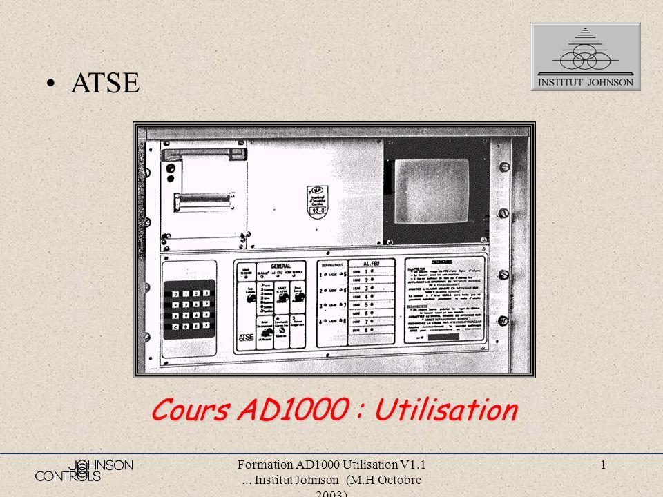 ATSE Cours AD1000 : Utilisation