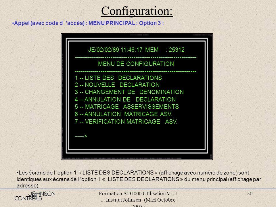 Configuration: JE/02/02/89 11:46:17 MEM : 25312