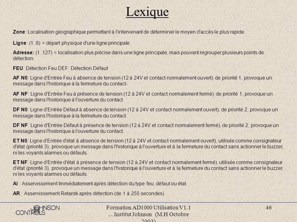 Lexique Zone: Localisation géographique permettant à l intervenant de déterminer le moyen d accès le plus rapide.
