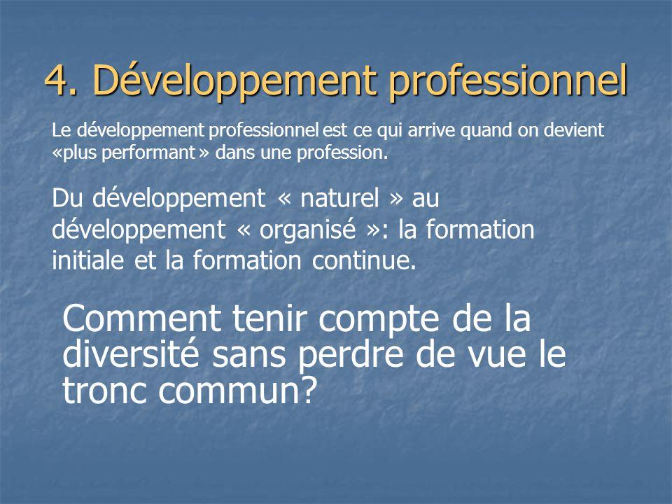 4. Développement professionnel