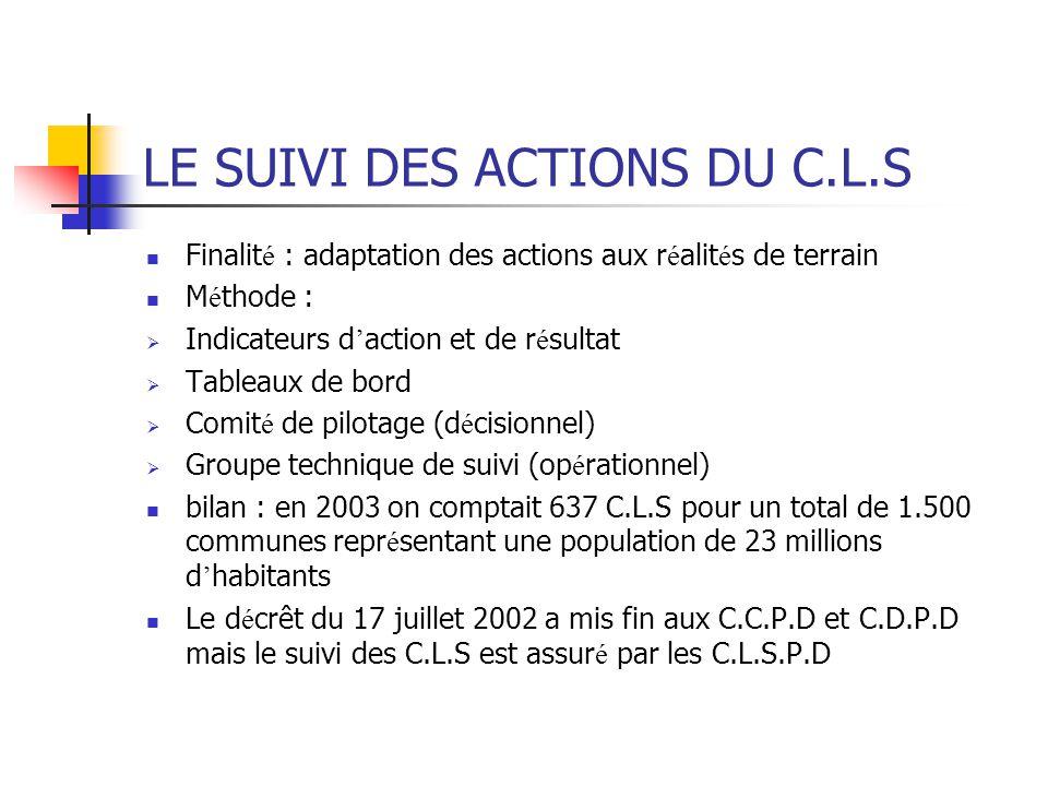LE SUIVI DES ACTIONS DU C.L.S