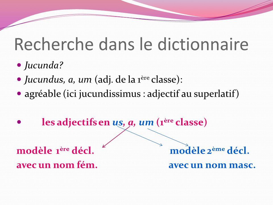 Recherche dans le dictionnaire