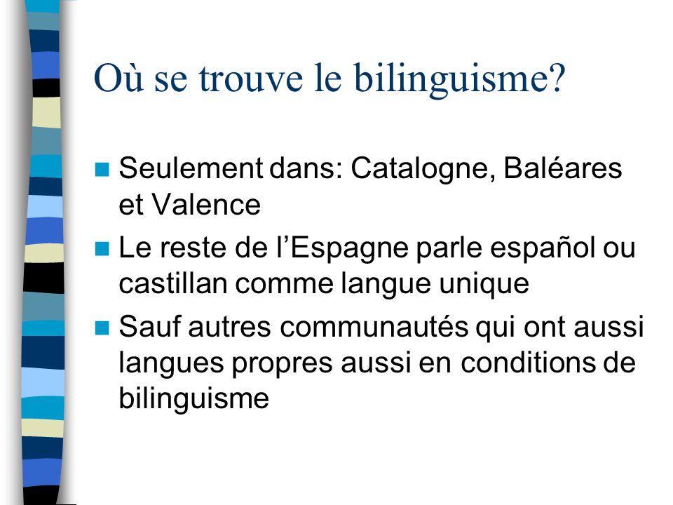 Où se trouve le bilinguisme