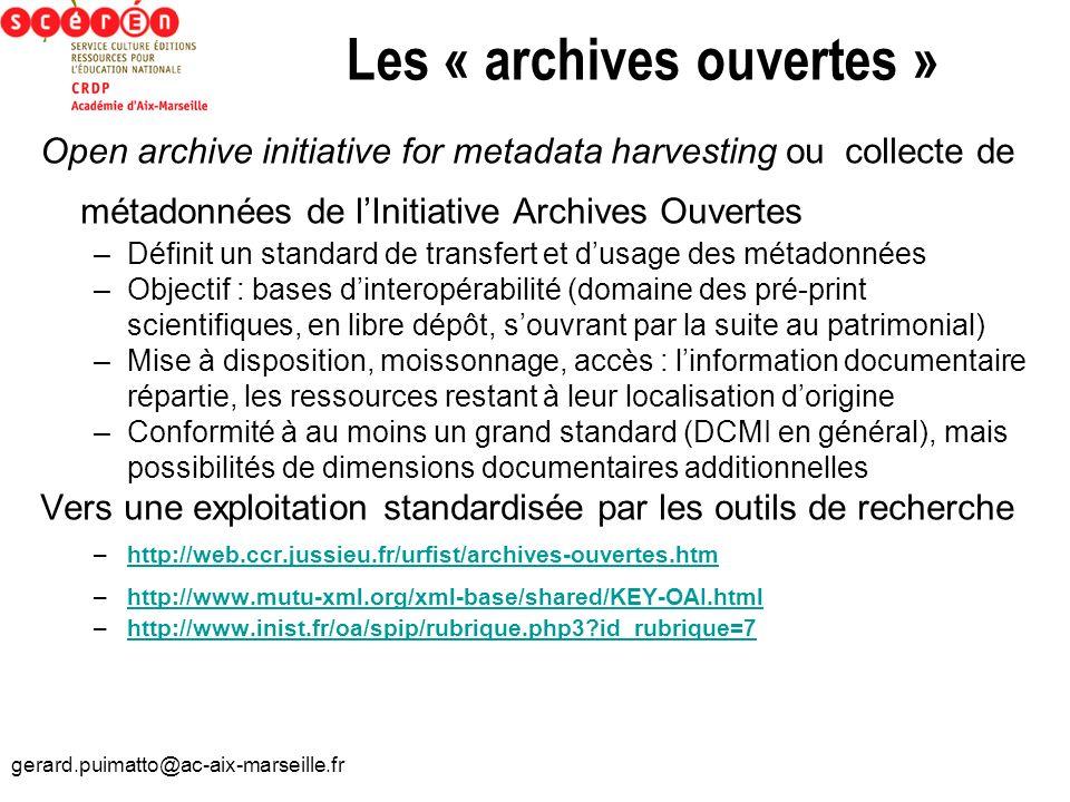 Les « archives ouvertes »