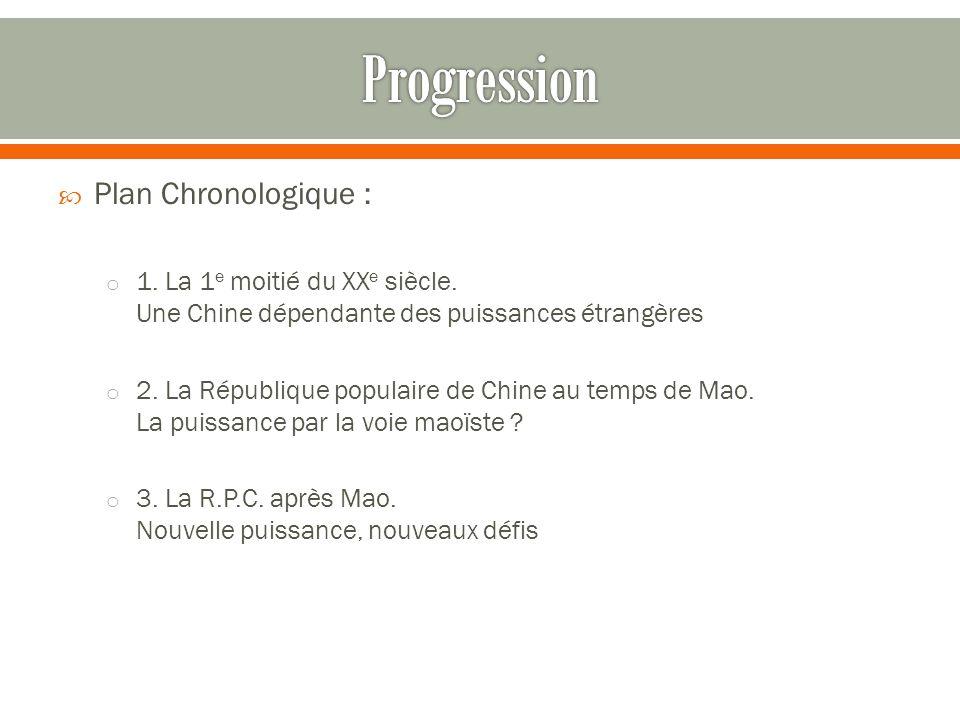 Progression Plan Chronologique :