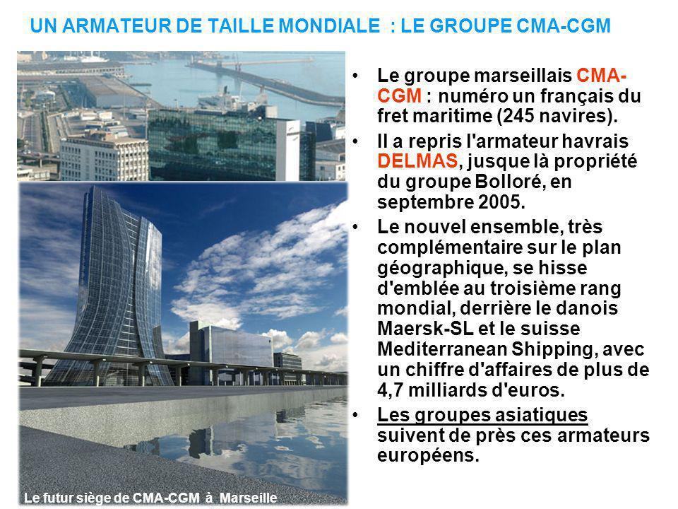 UN ARMATEUR DE TAILLE MONDIALE : LE GROUPE CMA-CGM