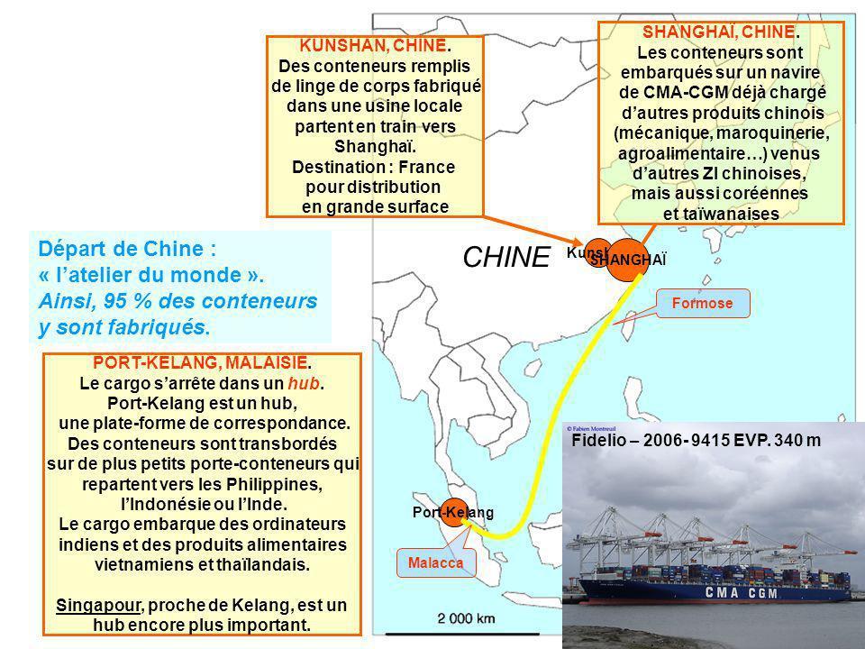 CHINE Départ de Chine : « l'atelier du monde ».