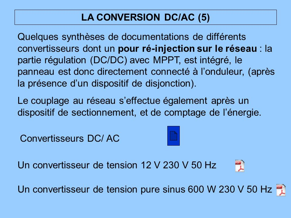 LA CONVERSION DC/AC (5)