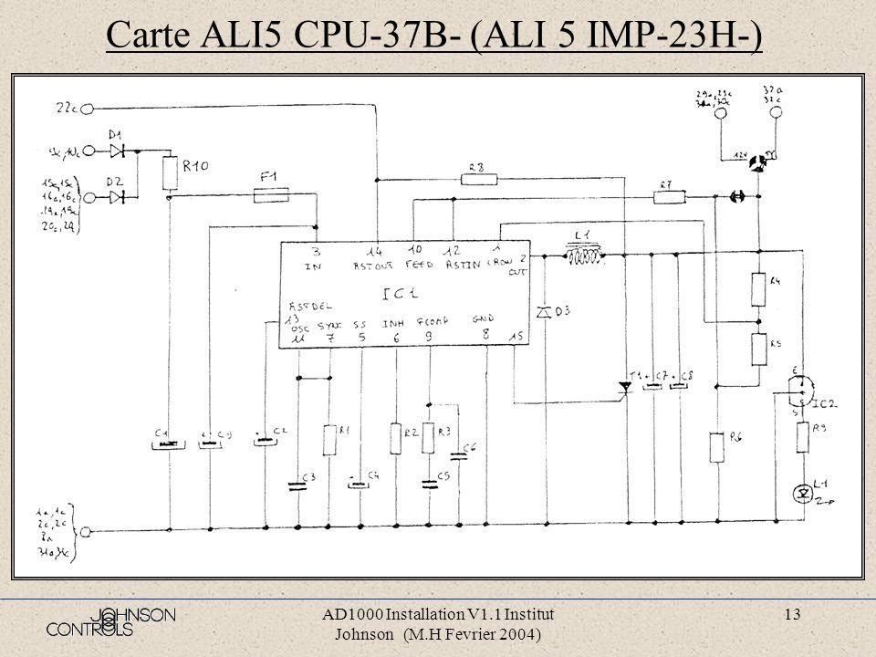 Carte ALI5 CPU-37B- (ALI 5 IMP-23H-)