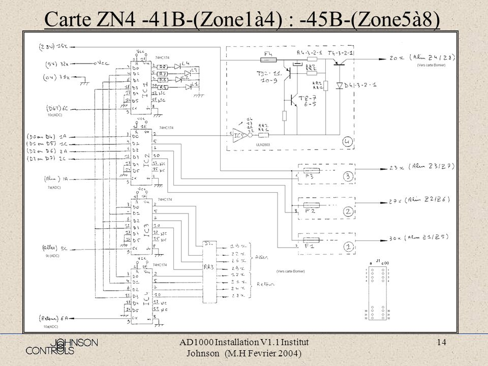 Carte ZN4 -41B-(Zone1à4) : -45B-(Zone5à8)