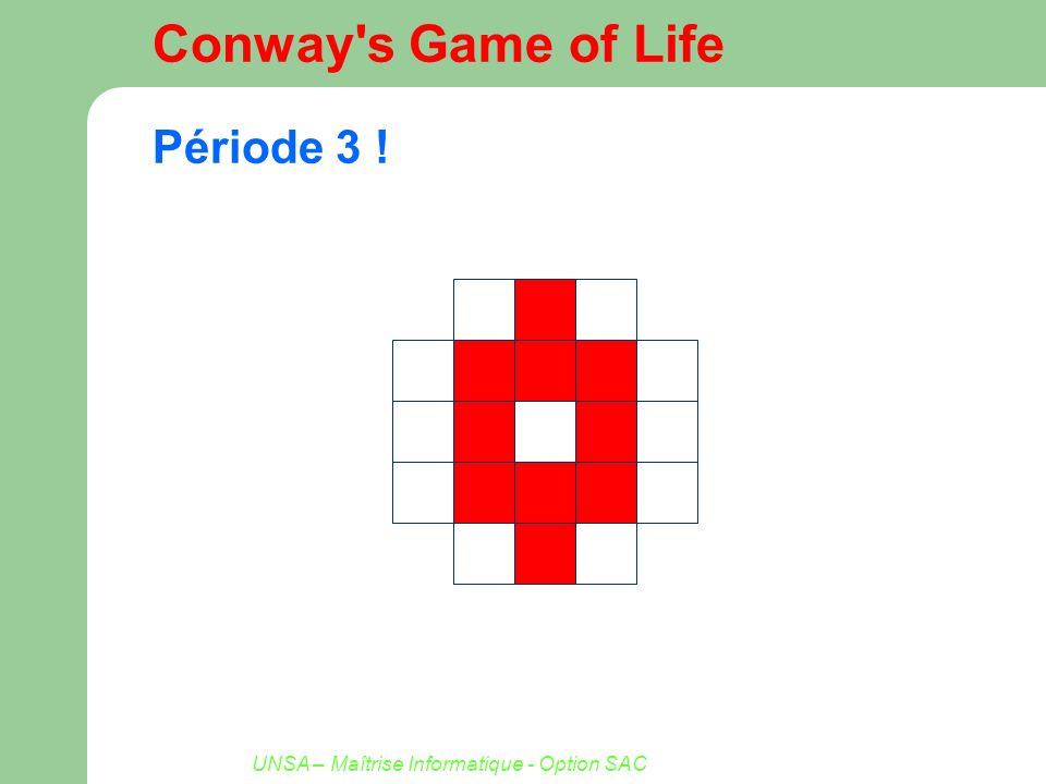 Conway s Game of Life Période 3 !