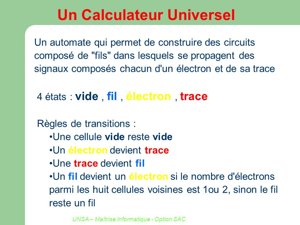 Un Calculateur Universel