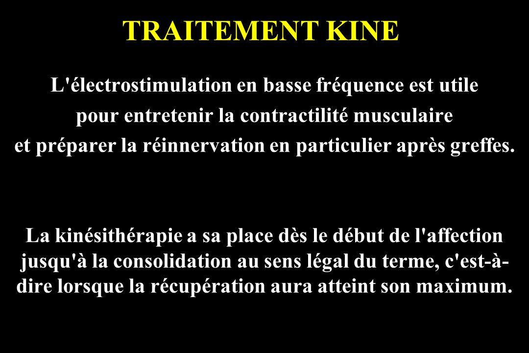 TRAITEMENT KINE L électrostimulation en basse fréquence est utile