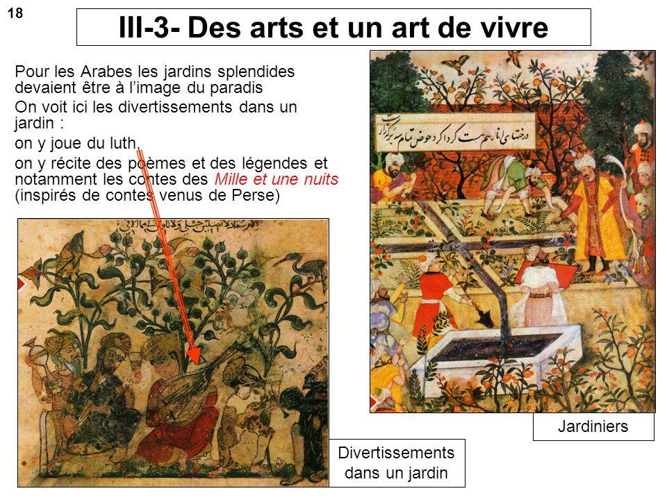 III-3- Des arts et un art de vivre