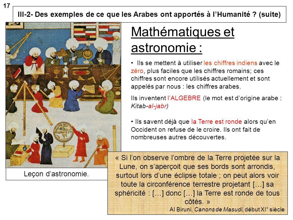 Mathématiques et astronomie :