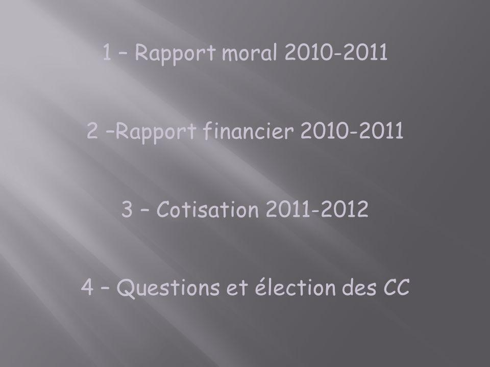 4 – Questions et élection des CC