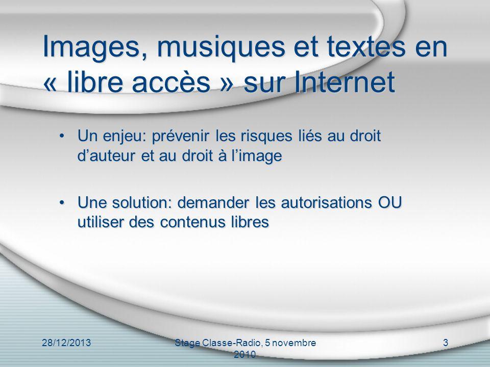 Images, musiques et textes en « libre accès » sur Internet