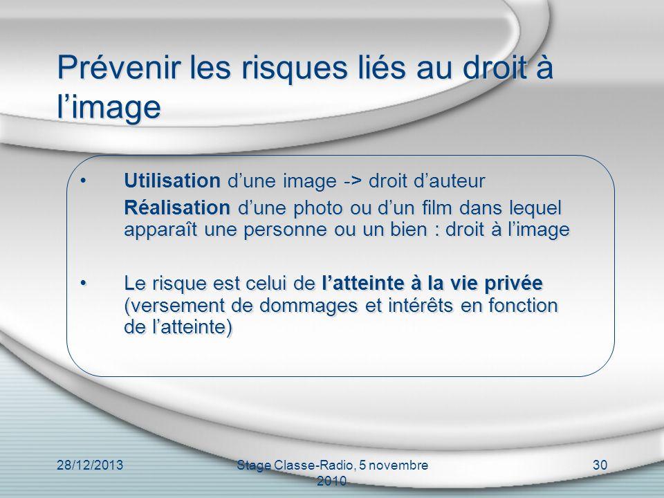 Prévenir les risques liés au droit à l'image