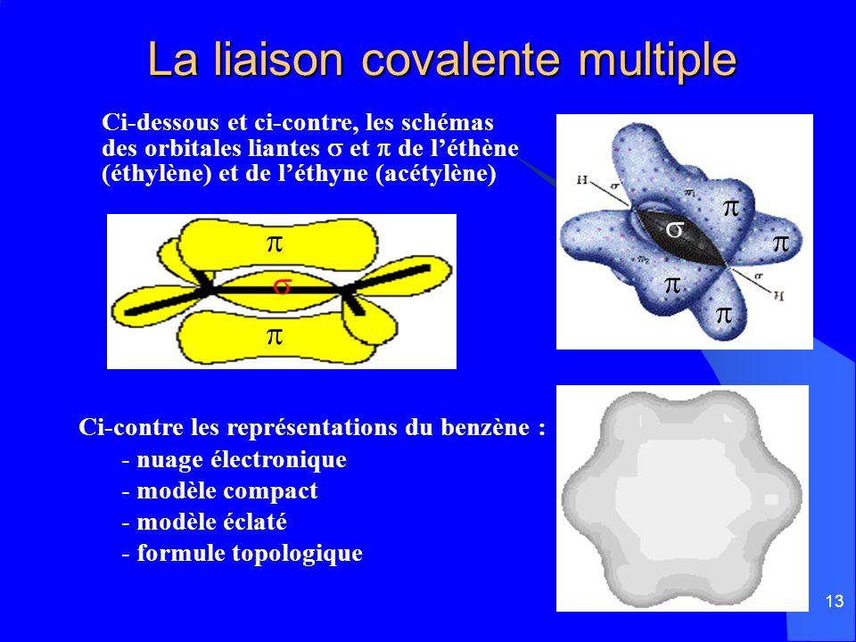 La liaison covalente multiple