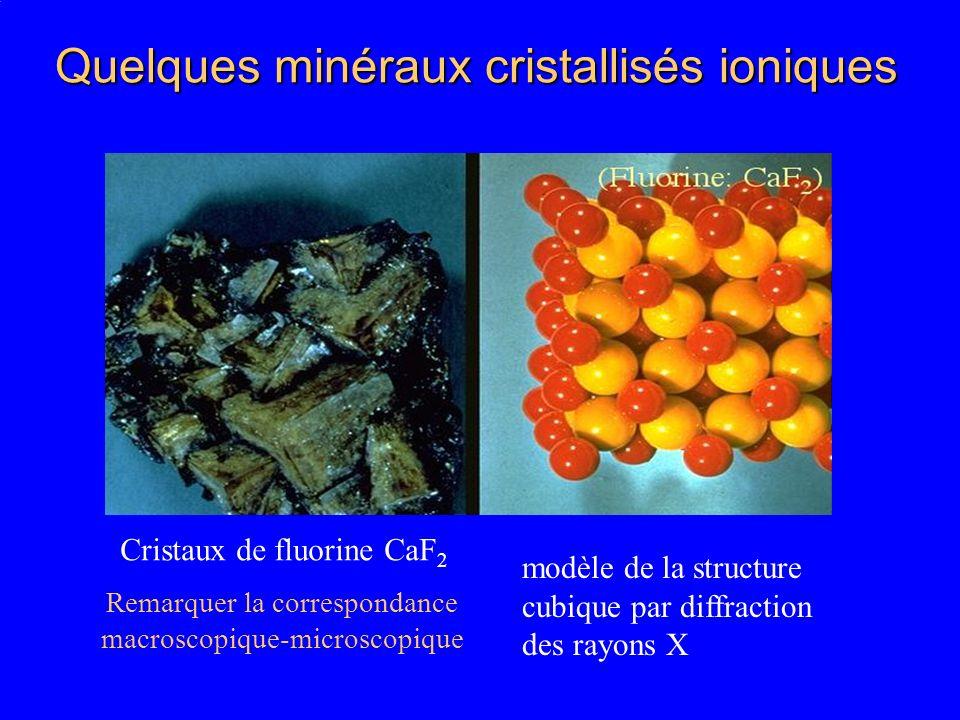 Quelques minéraux cristallisés ioniques