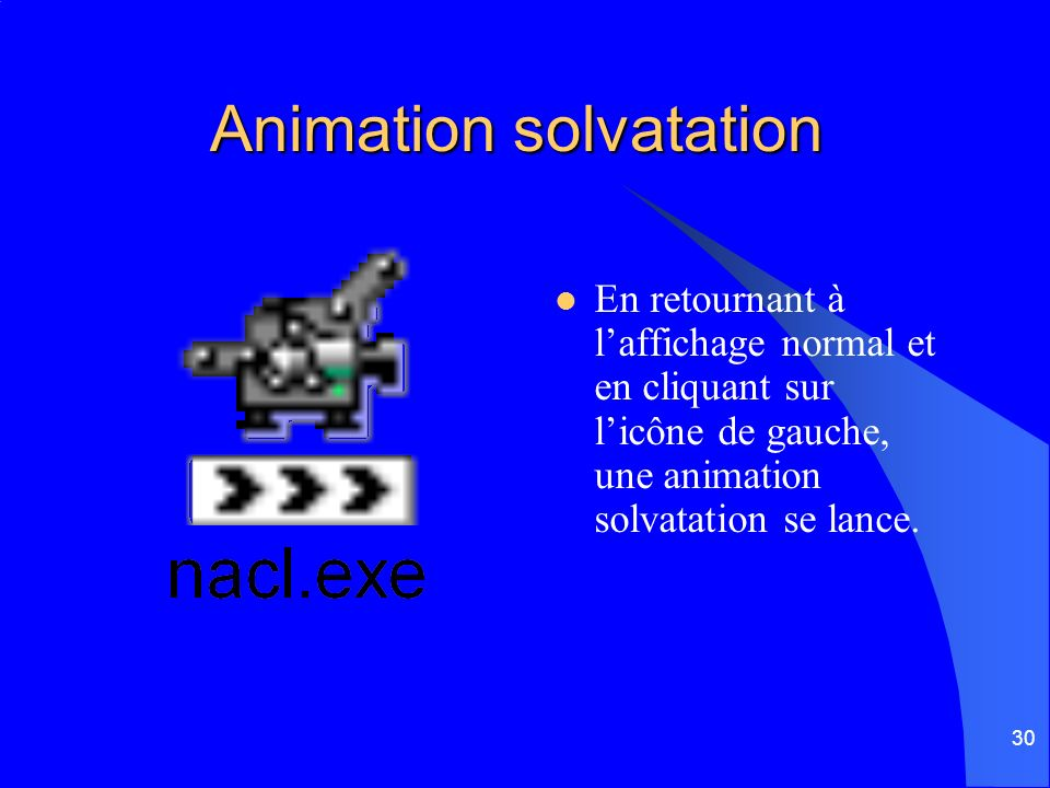 Animation solvatation