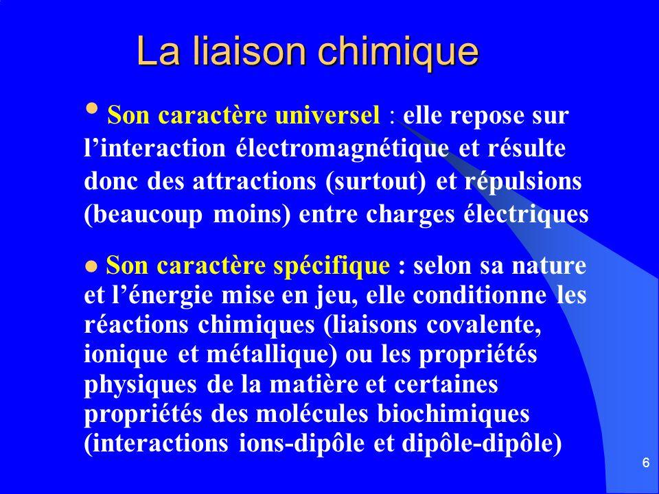 La liaison chimique
