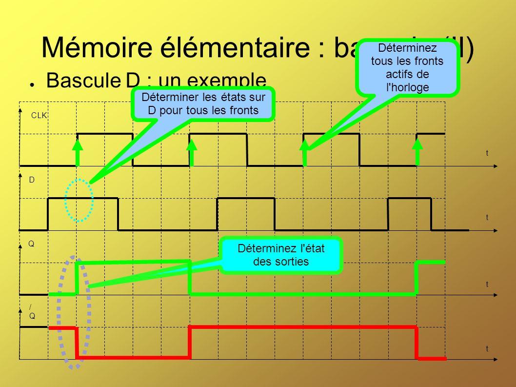 Mémoire élémentaire : bascule (II)